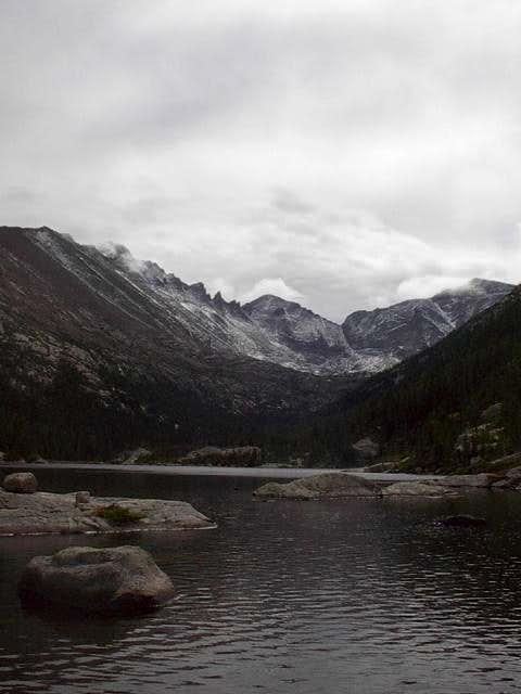 Summit of Longs Peak cloaked...