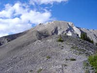 View of Teahut and summit of...