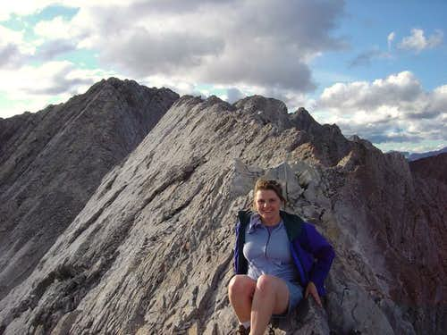 Debby on the summit ridge of...