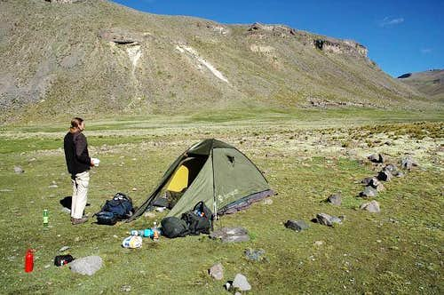 Our first camp in the Mismi...