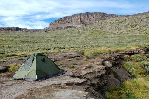 Our second camp in the Mismi...