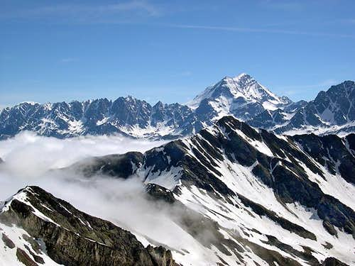 From the summit of Mont Fourchon <i>(2902m)</i> <br>view of Tête de Fenêtre and Pointe de Drône