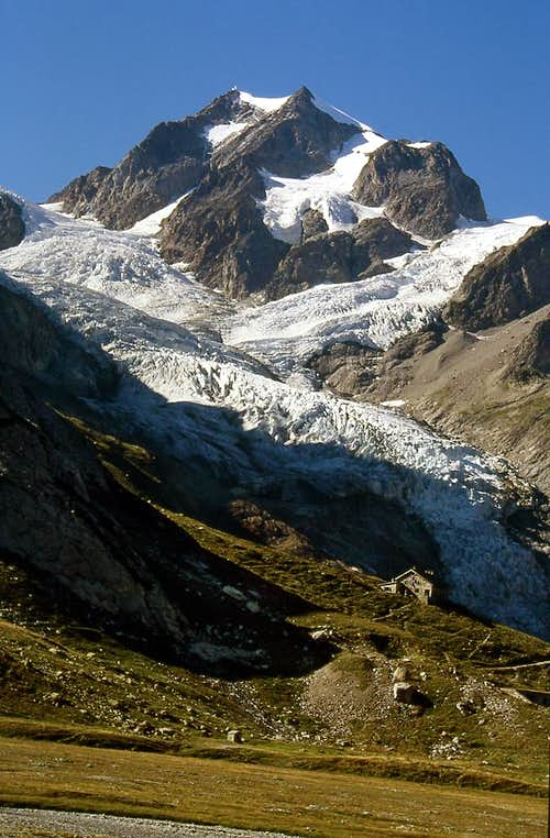 Elisabetta Soldini Hut <i>(2197m)</i> near the head of Val Veny