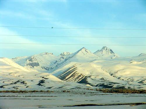 Mt. Aragats as seen from the...
