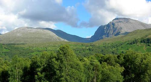 Ben Nevis (1344 m, right) and...