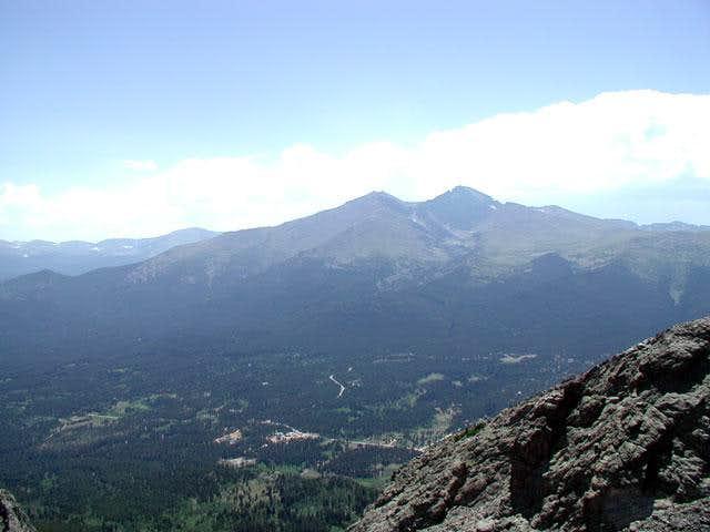 Longs Peak from the top of...