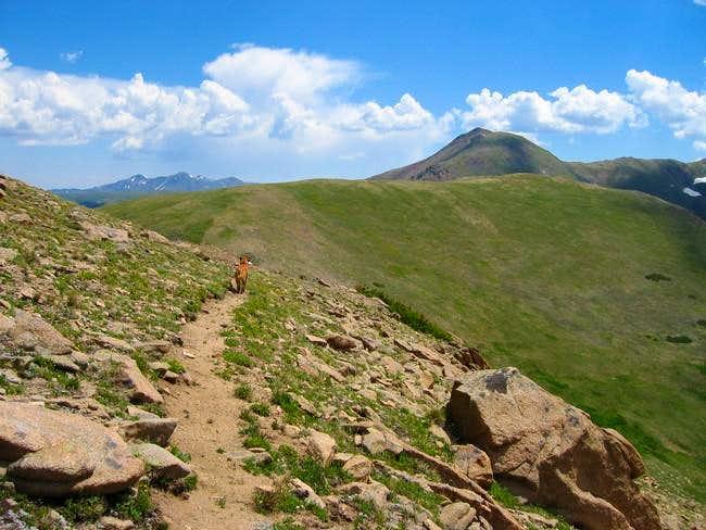 Vasquez Peak (on the right)...