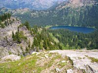 Dewey Lake from the ridge...