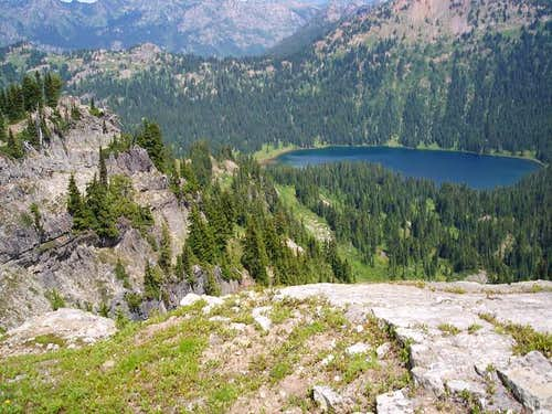 Dewey Lake from the ridge...