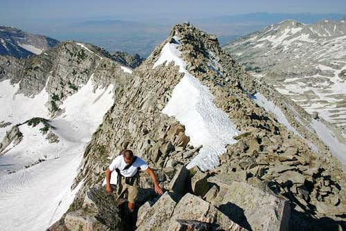 Nearing the summit from the...
