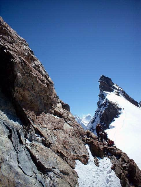 The beginning of the ridge...