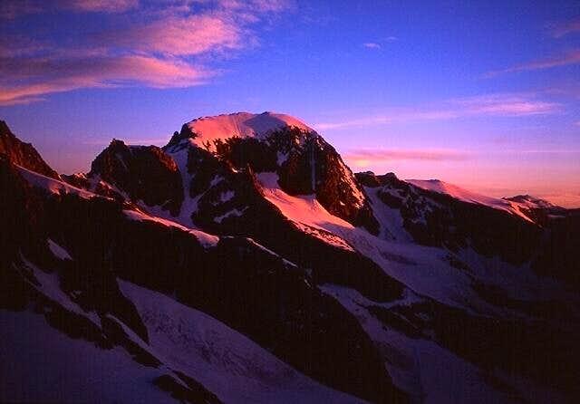 Gannett Peak in the morning...