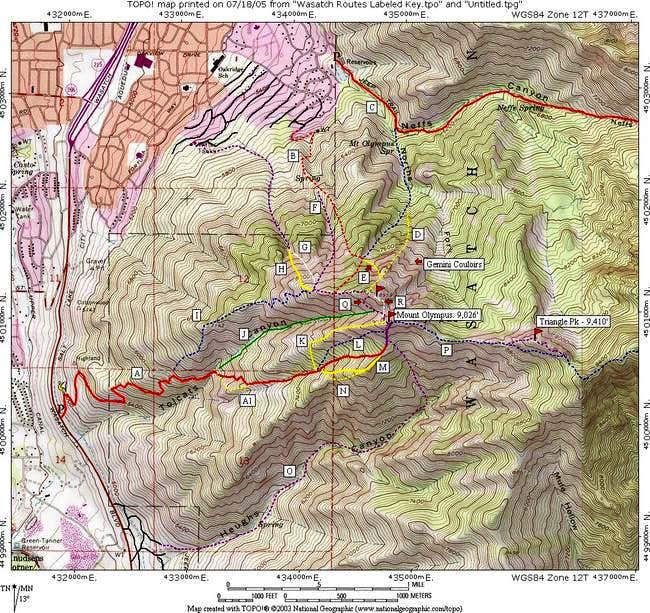 Mount Olympus Routes Photos Diagrams Topos SummitPost - Olympus map