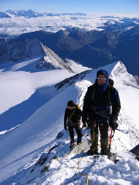 On the NE ridge, not far from...