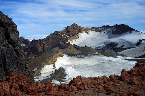Mt. Ruapehu's crater lake...