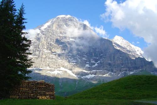 Eiger North face, with Monch...