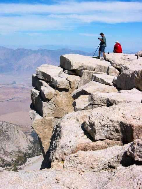 Hikers on the summit near the...