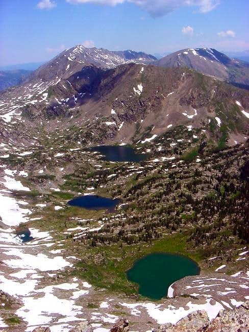 Summit view north towards Mt....