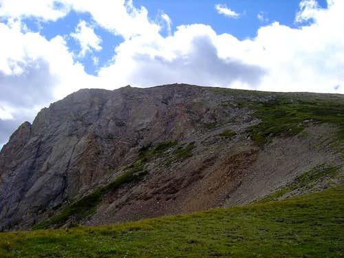 View of the summit ridge of...