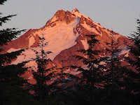 Sunset glow off Mount...