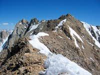 The ridge between Mt. Wallace...
