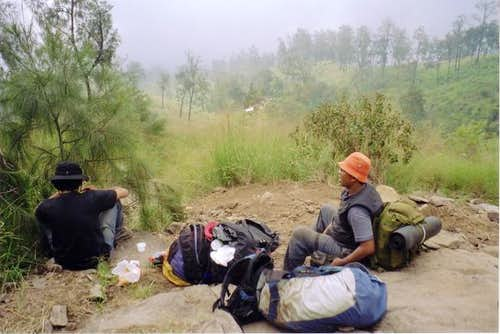 Below is Kop Kopan basecamp