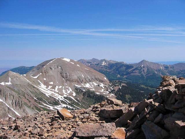 Looking north at Mt....