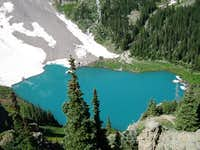 Lower Blue lake from the...