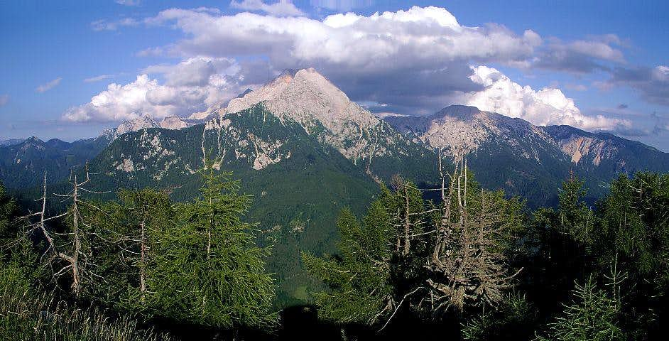 Summit panorama of Kozji vrh....