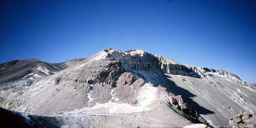 View towards the main summit...