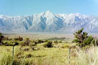 Lone Pine Peak from the east,...