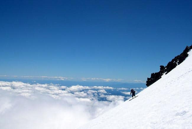 Snowboarding Mt. Shasta....