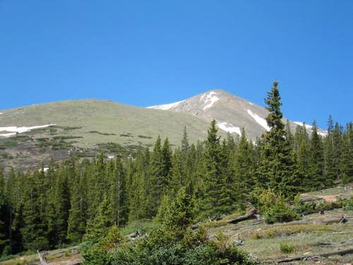 Mt. Elbert in late June 2003