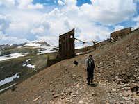 19th century mining ruins on...