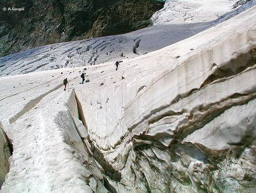 Italian normal route to Piz...
