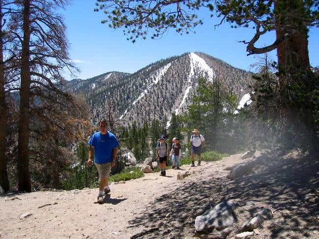 Here the trail climbs toward...
