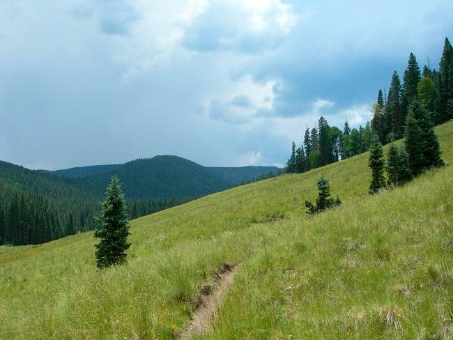 View of Baldy in distance