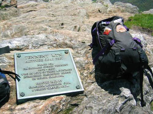 Plaque on the summit of...