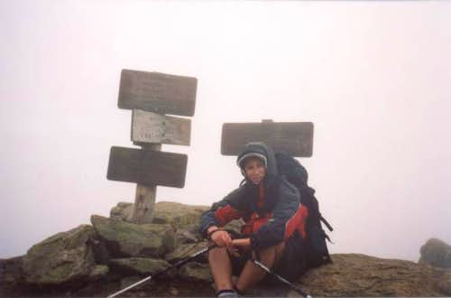 Me on the summit. Bad weather...