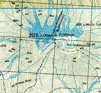 Topographic map of Ostry and...