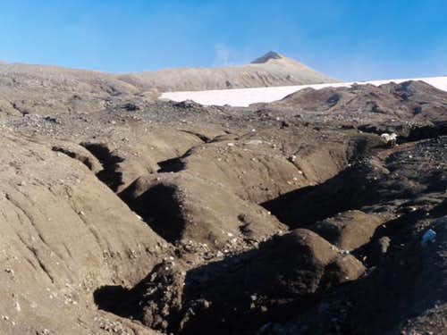 A view of the summit crater...