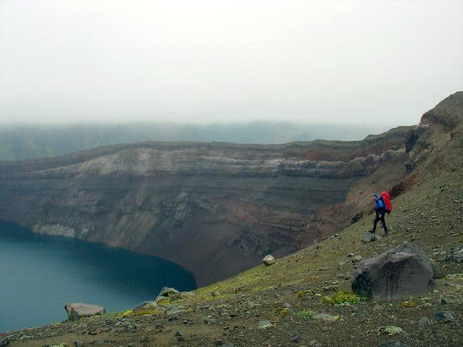 At the rim of Strubel crater...