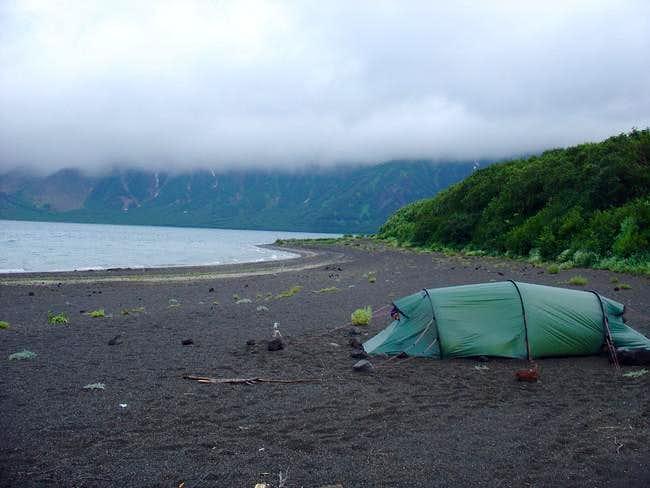 Camp at lake Kliuchevoe. We...