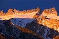 Sawblade and Cleaver Peak...