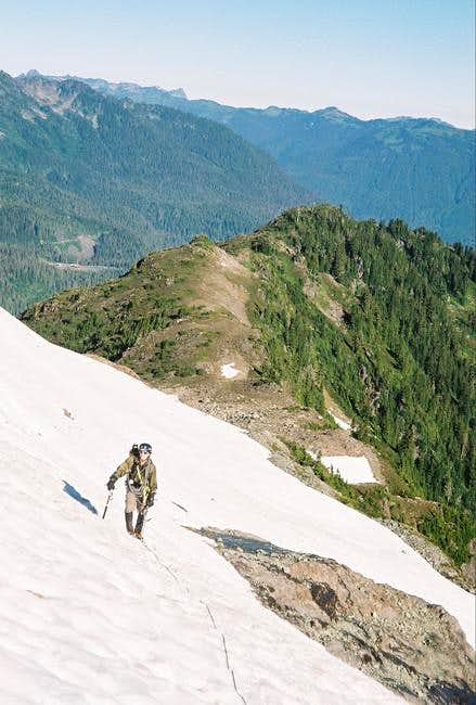 The ridge behind Andrew is...