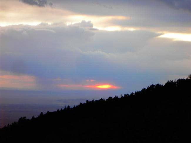 A gorgeous sunset over Osha...