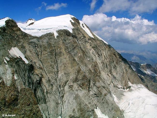 700m high south face of...