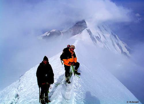On the fantastic summit ridge...
