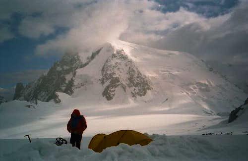 The Mont Blanc du Tacul seen...