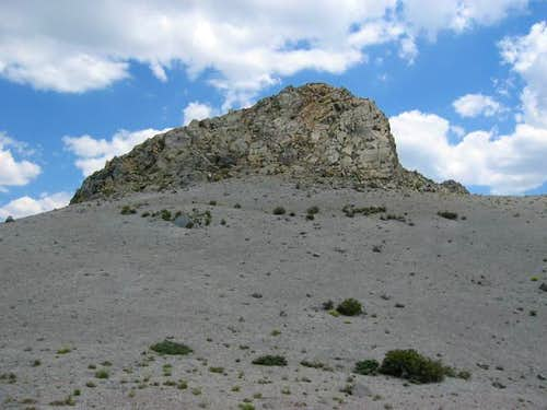 W face of the summit block of...